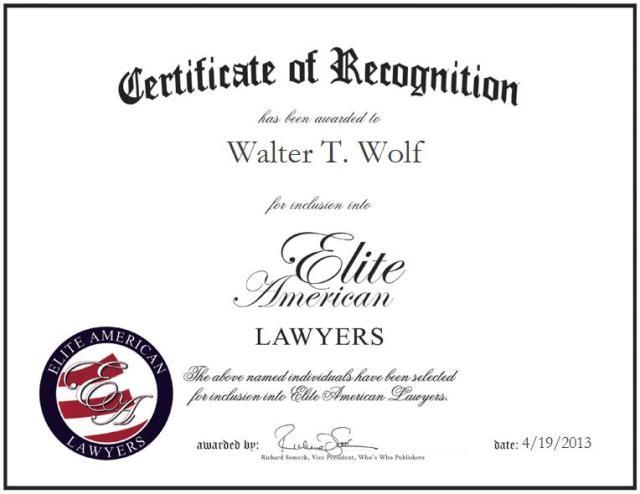 Walter T. Wolf