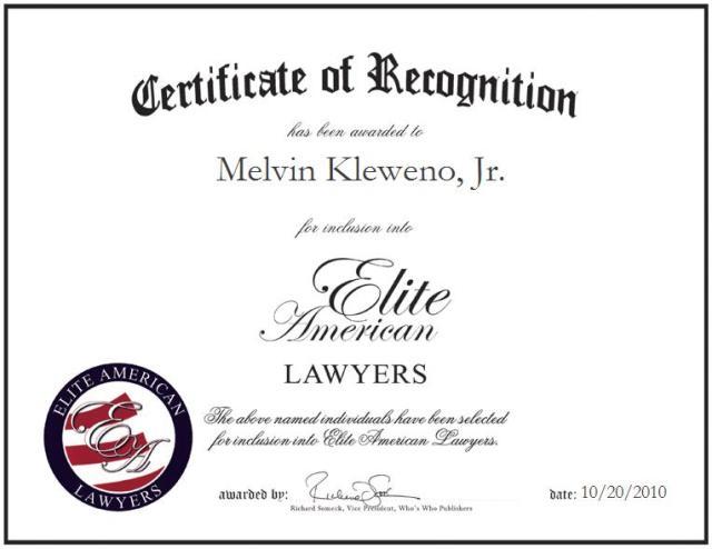 Melvin Kleweno Jr.